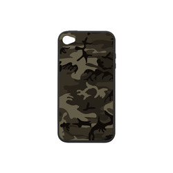 Camo Grey Rubber Case for iPhone 4/4s