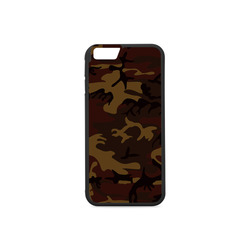 Camo Dark Brown Rubber Case for iPhone 6/6s