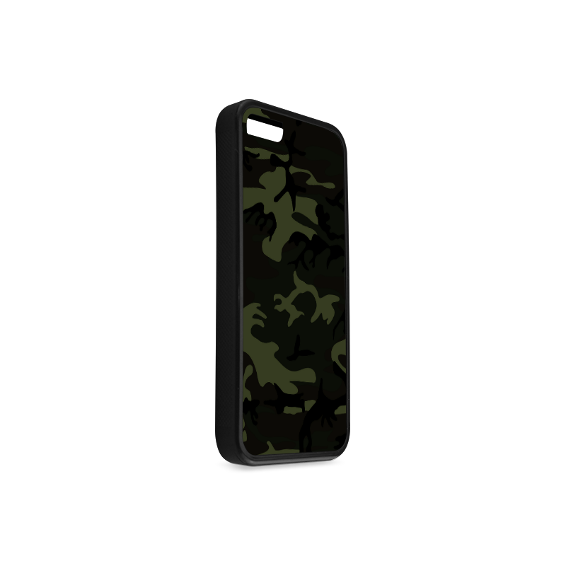 Camo Green Rubber Case for iPhone 5c