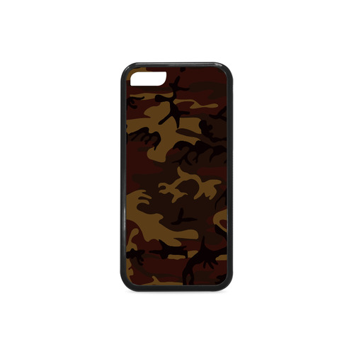 Camo Dark Brown Rubber Case for iPhone 5c