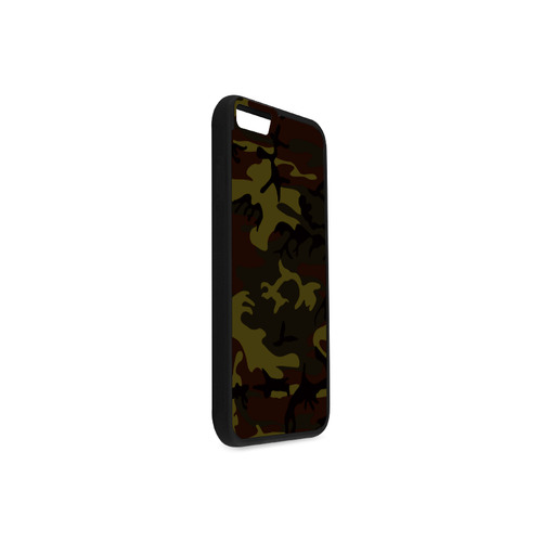 Camo Green Brown Rubber Case for iPhone 6/6s