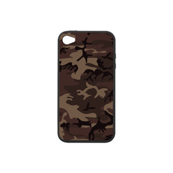 Camo Red Brown Rubber Case for iPhone 4/4s