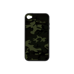 Camo Green Rubber Case for iPhone 4/4s