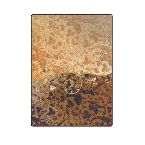 "Wonderful decorative floral design Blanket 58""x80"""