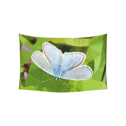 """Blue Butterfly Low Poly Geometric Triangle Art Cotton Linen Wall Tapestry 60""""x 40"""""""