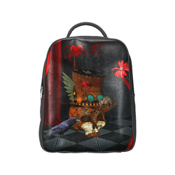 Steampunk skull with rat and hat Popular Backpack (Model 1622)