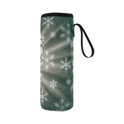 Cute Snow Lady by JamColors Neoprene Water Bottle Pouch/Large