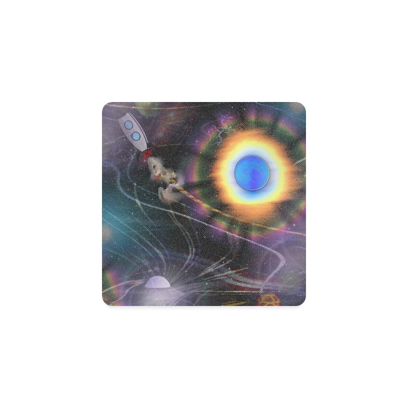 Space Bound Square Coaster