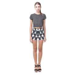 Penguin Pattern Briseis Skinny Shorts (Model L04)