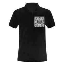 funny Mandala Skull by JamColors Men's Polo Shirt (Model T24)