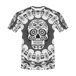 funny Mandala Skull by JamColors All Over Print T-Shirt for Men (USA Size) (Model T40)