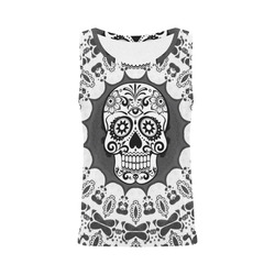 funny Mandala Skull by JamColors All Over Print Tank Top for Women (Model T43)