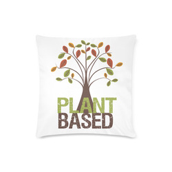 "Plant Based Tree Throw Pillow Custom Zippered Pillow Case 16""x16""(Twin Sides)"