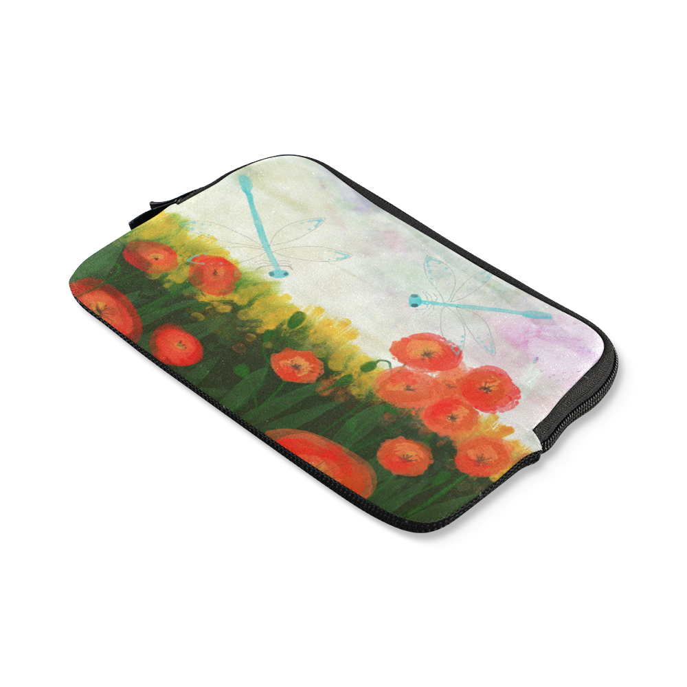 poppy blue dragonfly floral landscape summer time iPad mini