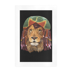 lion retaferian Art Print 19''x28''