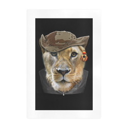 Dresses up lioness Art Print 19''x28''