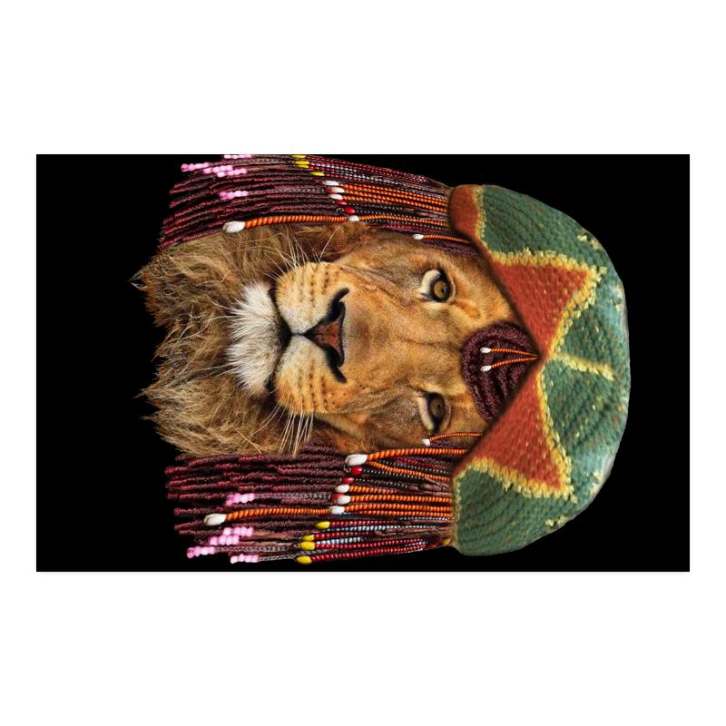 "lion retaferian Poster 23""x36"""