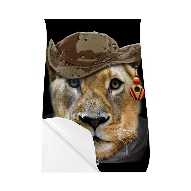 """Dresses up lioness Poster 23""""x36"""""""