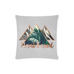 "Tri Tropical Plant Based Throw Pillow Custom Zippered Pillow Case 16""x16""(Twin Sides)"