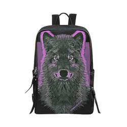 WOLF - SAVE WOLVES Unisex Slim Backpack (Model 1664)