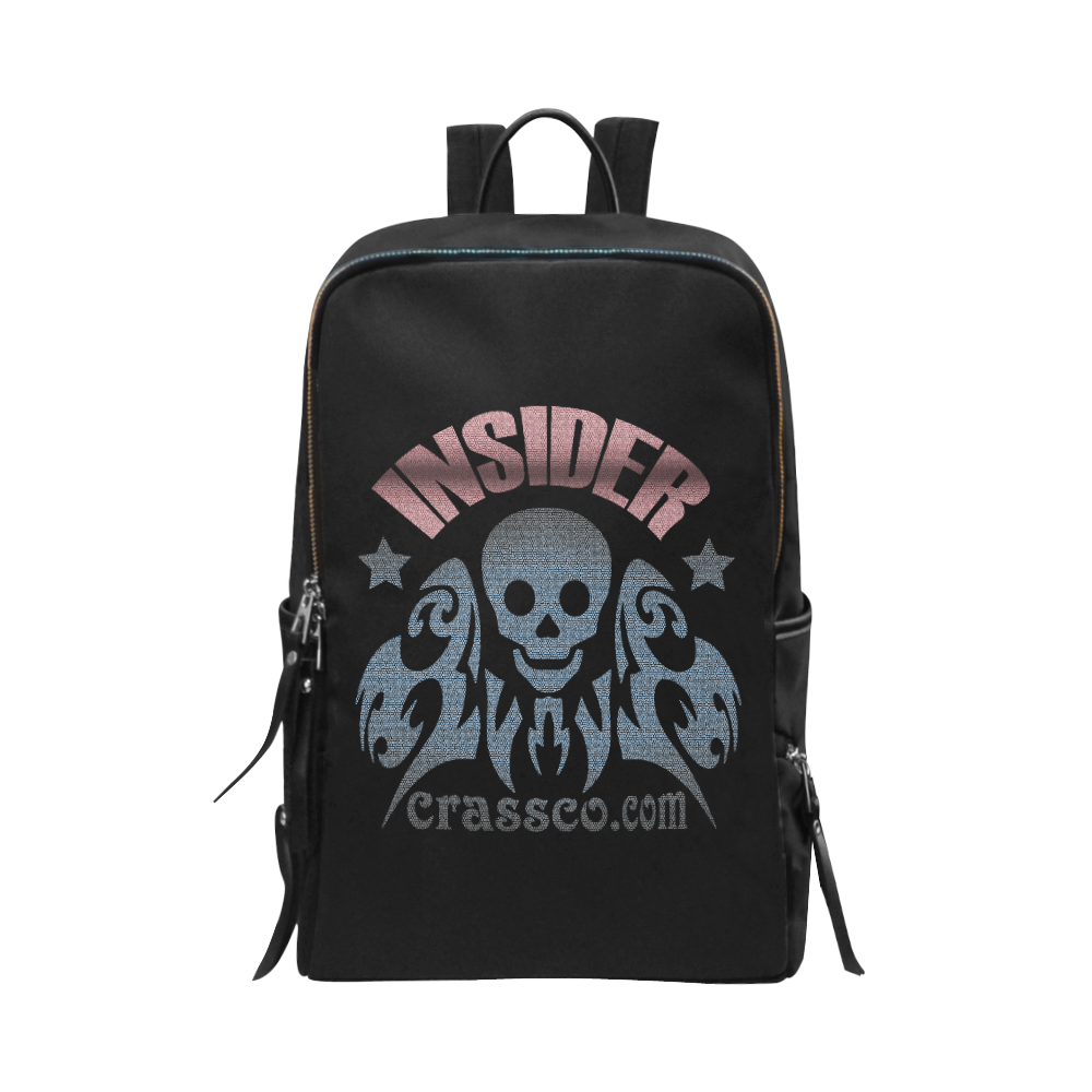 INSIDER CRASSCO SKULL Unisex Slim Backpack (Model 1664)