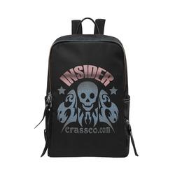 INSIDER CRASSCO SKULL Unisex Slim Backpack (Model 1664)