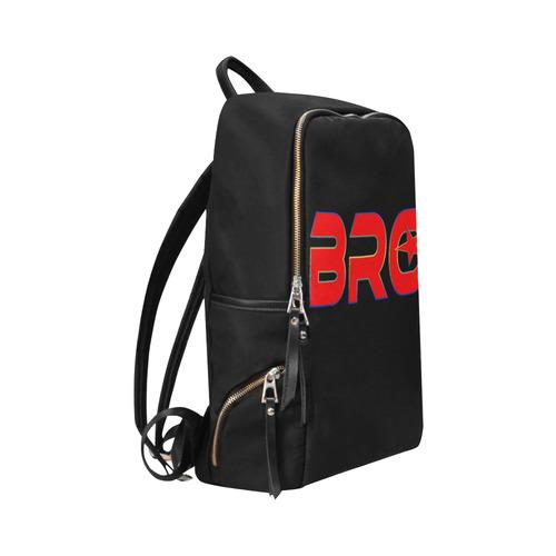 BRO BROTHER RED Unisex Slim Backpack (Model 1664)