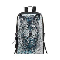 ICE WOLF Unisex Slim Backpack (Model 1664)