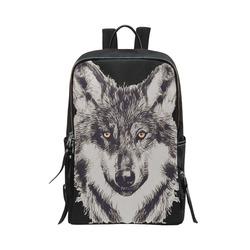 WOLF DOG Unisex Slim Backpack (Model 1664)