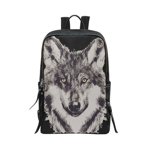 WOLF DOG Unisex Slim Backpack (Model 1664)