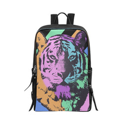 TIGER ART Unisex Slim Backpack (Model 1664)