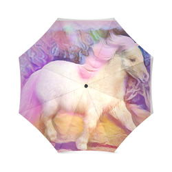 Horse Foal Pink Foldable Umbrella (Model U01)