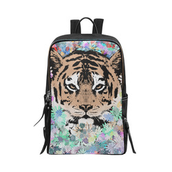 FLOWER TIGER ART Unisex Slim Backpack (Model 1664)