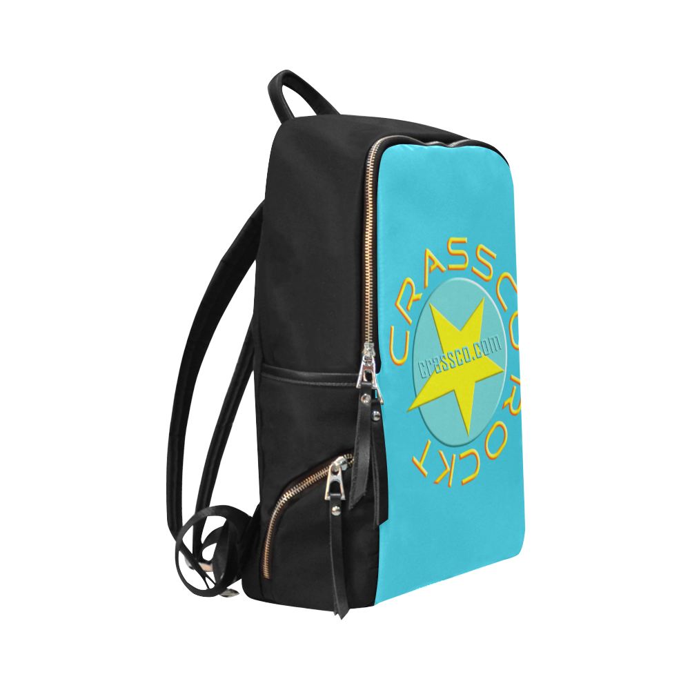 CRASSCO ROCKT BABYBLUE Unisex Slim Backpack (Model 1664)