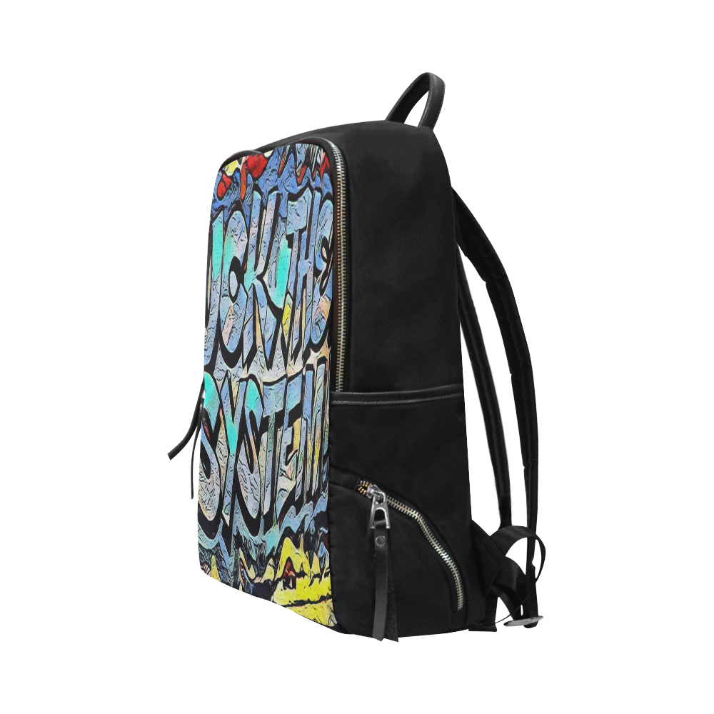 FUCK THE SYSTEM Unisex Slim Backpack (Model 1664)