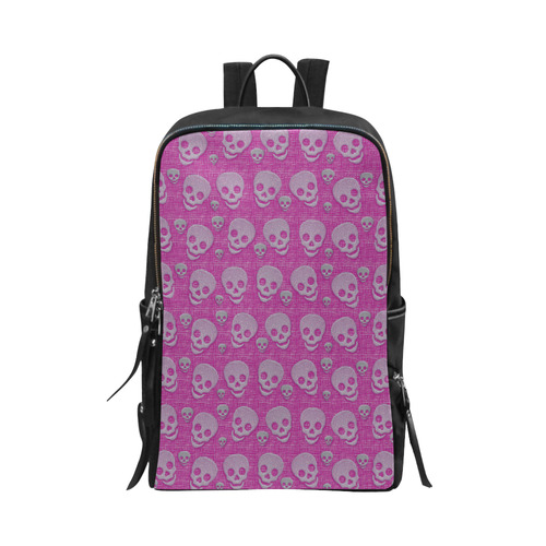 SKULLS PINK Unisex Slim Backpack (Model 1664)