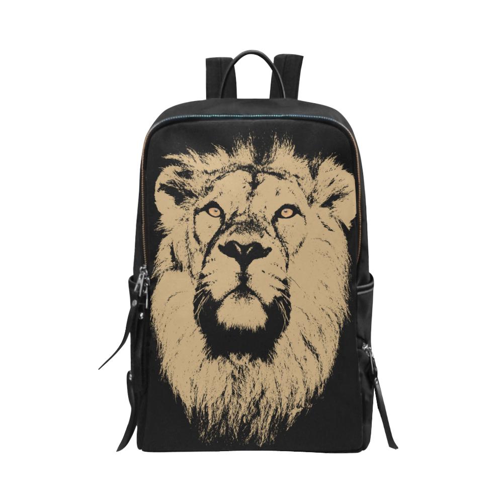 LION ART Unisex Slim Backpack (Model 1664)