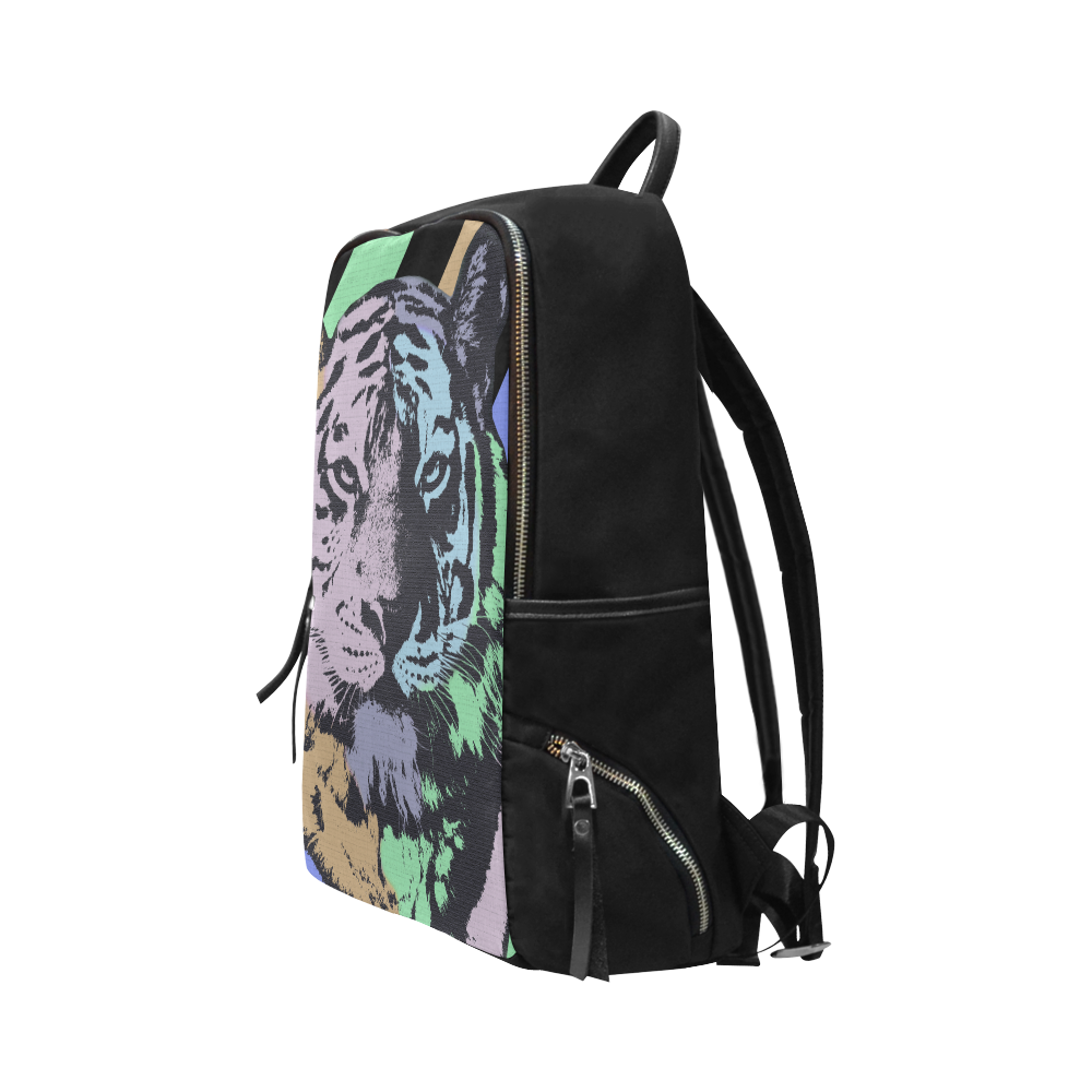 TIGER ART II Unisex Slim Backpack (Model 1664)