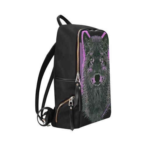 WOLF - SAVE WOLVES Unisex Slim Backpack (Model 1664)