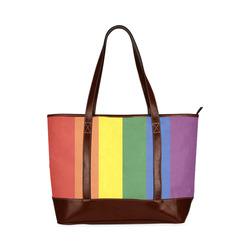 Stripes with rainbow colors Tote Handbag (Model 1642)