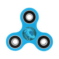 Blue Spiral Fractal Fidget Spinner