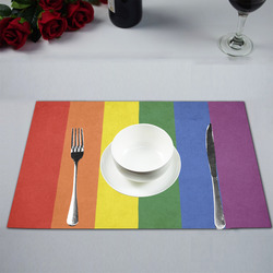 Stripes with rainbow colors Placemat 12''x18''