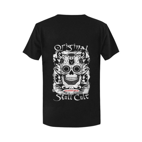 ORIGINAL SKULL CULT Women's T-Shirt in USA Size (Two Sides Printing)