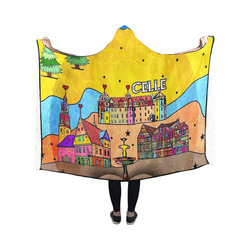 Celle Popart by Nico Bielow Hooded Blanket 50''x40''