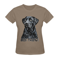 LABRADOR DOG BEST FRIEND II Sunny Women's T-shirt (Model T05)