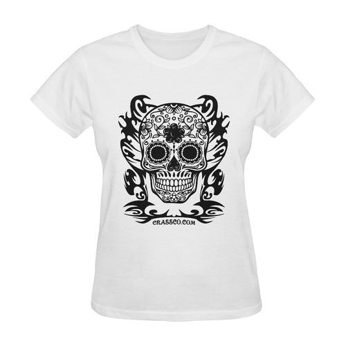 SKULL DESTINATION FUX Sunny Women's T-shirt (Model T05)