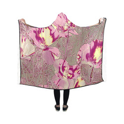 Amazing glowing flowers 2B by JamColors Hooded Blanket 50''x40''