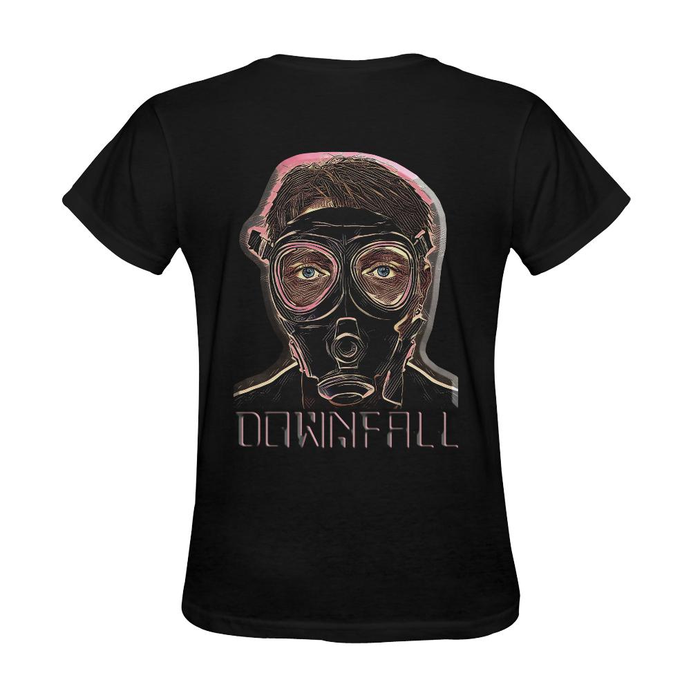 MASK INFERNO DOWNFALL Sunny Women's T-shirt (Model T05)