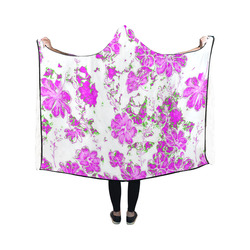 floral dreams 12 F by JamColors Hooded Blanket 50''x40''