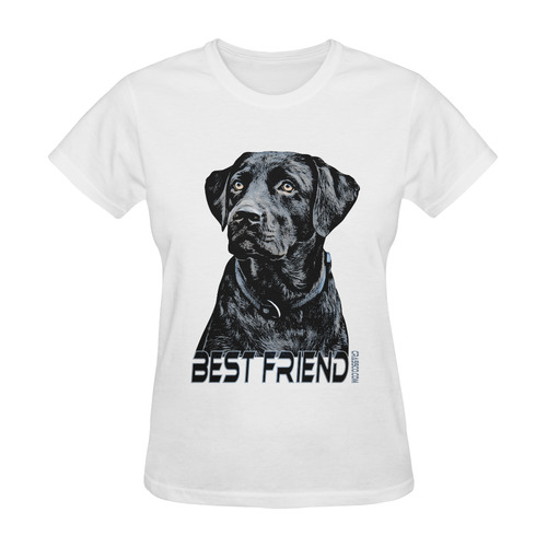 LABRADOR DOG BEST FRIEND Sunny Women's T-shirt (Model T05)
